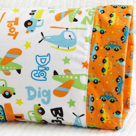 Pillowcase Pattern Plush Fabric - Minky would make such a soft pillowcase