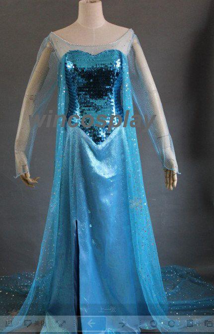 Hvad med denne her mor? New arrival Disney Frozen Elsa Cosplay Costume by wincosplay, $138.00