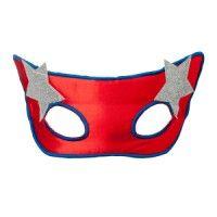 Masque Super Girl Héros Rouge