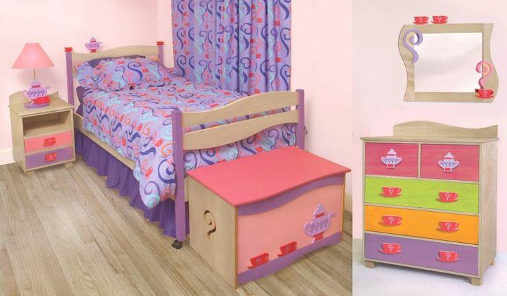 Little Girl Teaset Bedroom Set Kids Furniture Room Magicroom