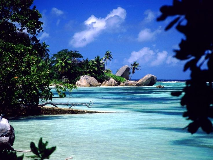 Isolated beach, Seychelles