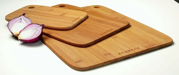 SCANPAN Bamboo 3 Piece Cutting Chopping Board Set FREE POST