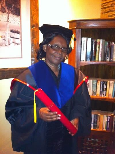 Philomena Wavinya Ndambuki received a Doctor Honoris Causa from BIU.  Philomena Wavinya Ndambuki is a BIU professor.