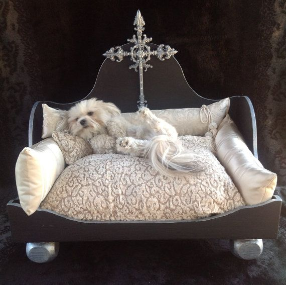 470 best images about dog beds on pinterest for Dog room furniture