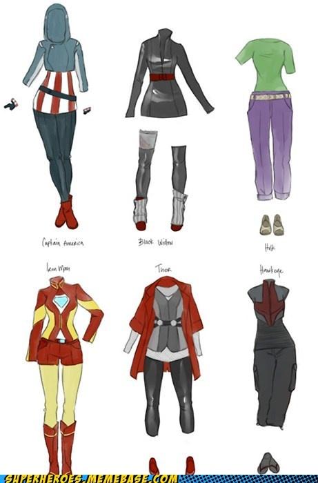 Female Avenger Fashions. Cosplay idea?