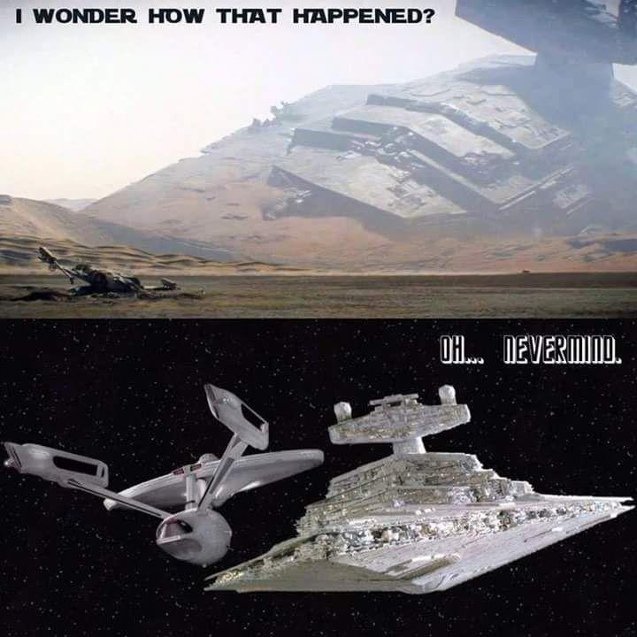 2fa78053923e682a6b37b8851f6f6a7c star destroyer star trek ships 1285 best a nerdom star trek images on pinterest trekking, star,Star Wars Star Trek Meme