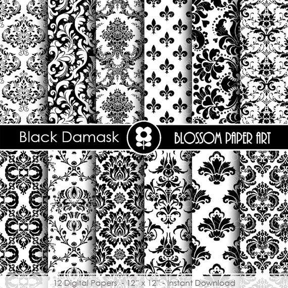 Papeles decorativos negro papel decorado para imprimir - Papeles decorativos para imprimir ...