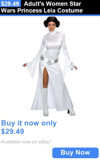 Women Costumes: Adults Women Star Wars Princess Leia Costume BUY IT NOW ONLY: $29.49