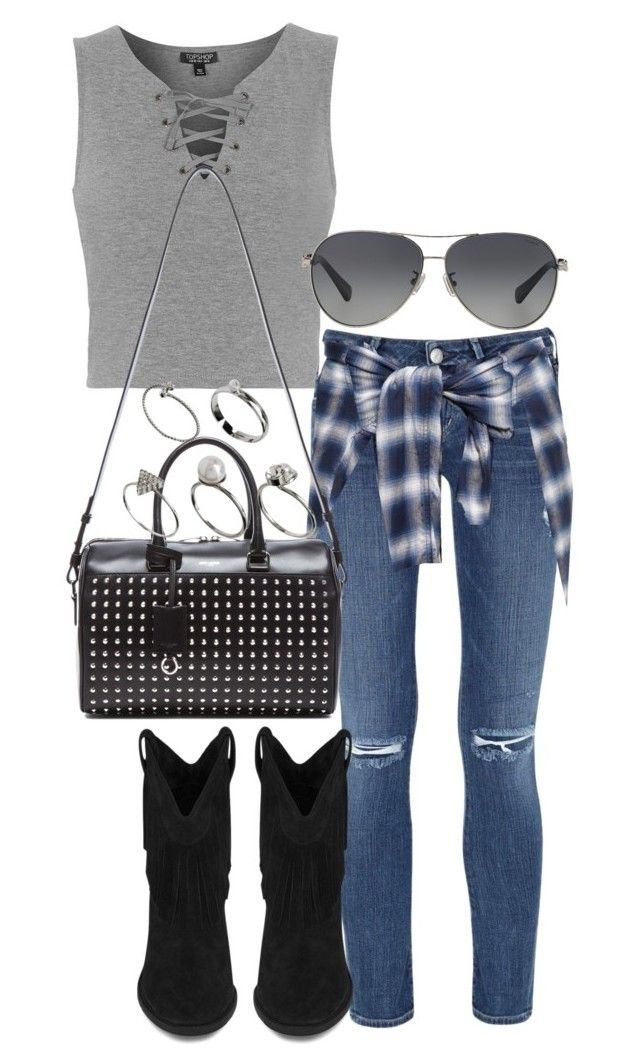 """pub outfits"" by tyra482 ❤ liked on Polyvore featuring Topshop, Citizens of Humanity, Yves Saint Laurent, Miharayasuhiro, ASOS and Coach"