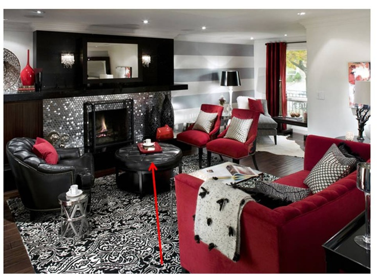 Damask U0026 Red Room! Loving Everything Going On Here! Modern FireplacesIndoor  FireplacesWhite Living RoomsLiving ... Part 98