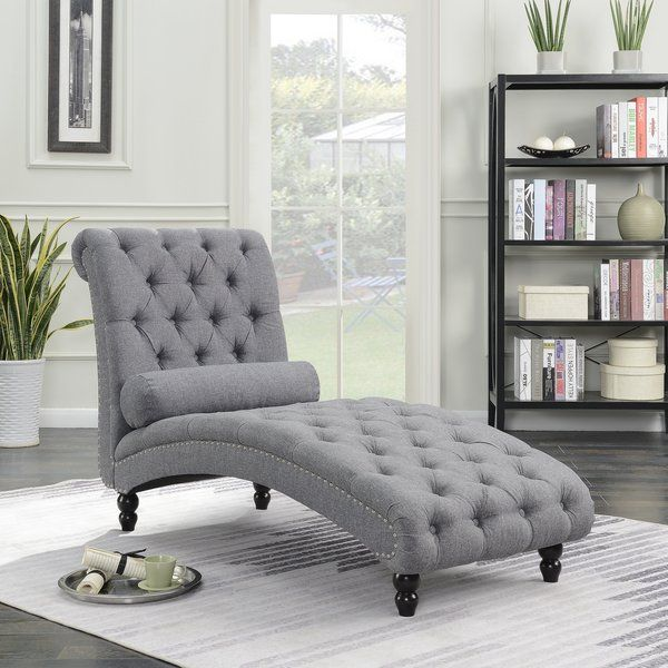 Indulge In Modern Sophistication With This Classic Filip Armless Chaise Lounge With Accent Nailheads F Chaise Lounge Chaise Lounge Sofa Oversized Chaise Lounge