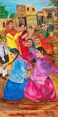 Featured Art - Vasakhi in a Punjab village  by Sarabjit Singh