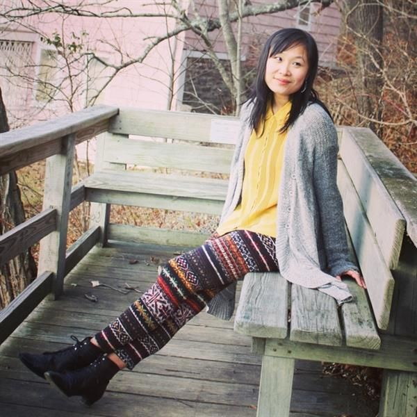 Casual sweater and fun tights by  LayersofChic