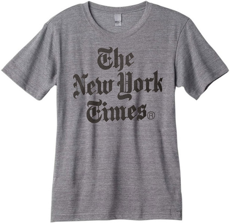 new york times stacked logo t shirt 35 a wish list