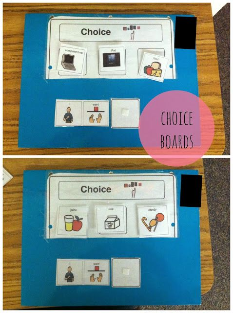 """Cheap and Easy Communication Methods for Students who are Non-Verbal. I like this """"I want ___"""" page."""