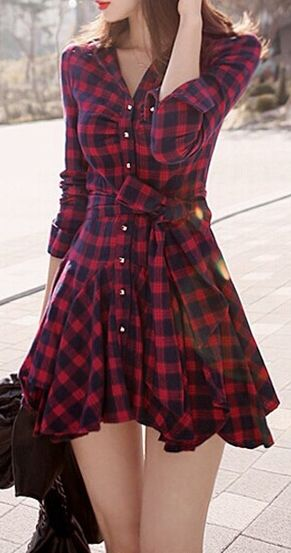 Forever Fly Plaid Dress