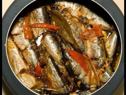 Como fazer sardinhas em conserva (tipo a de lata) - YouTube