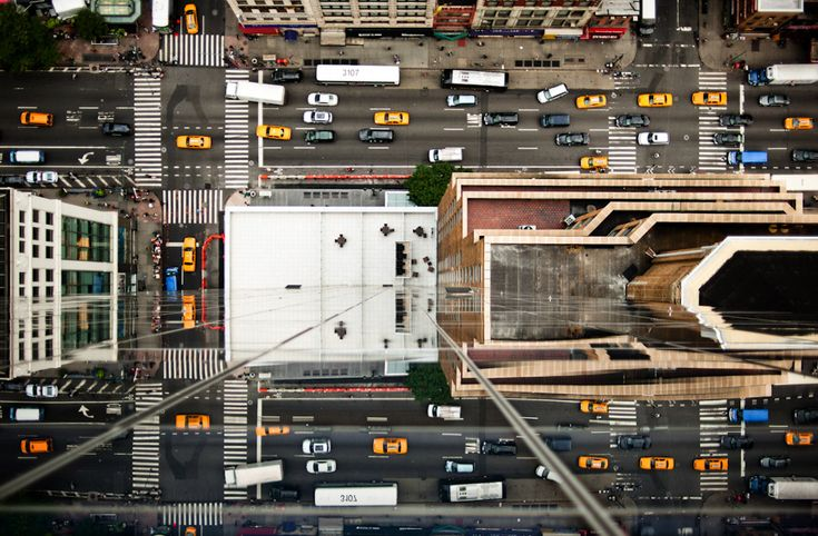 """A photograph from Navid Baraty's """"Intersections from Above - NY and Tokyo"""" series."""