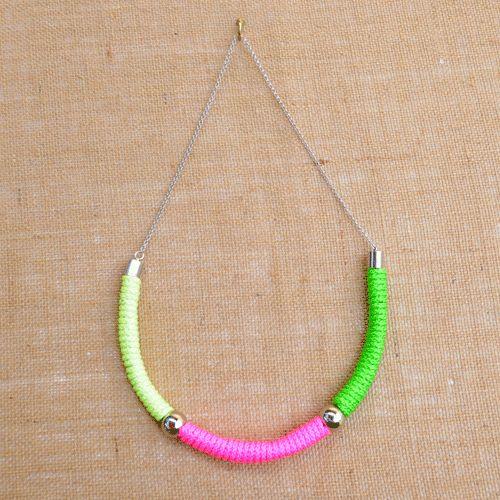Holi Fluro Rope Necklace