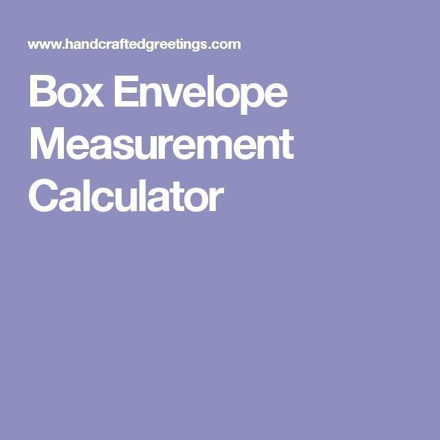 Box Envelope Measurement Calculator