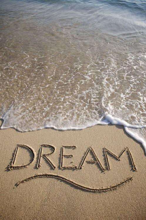Dream written in the sand