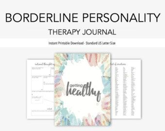 Depression & Anxiety Therapy Journal: Instant Printable