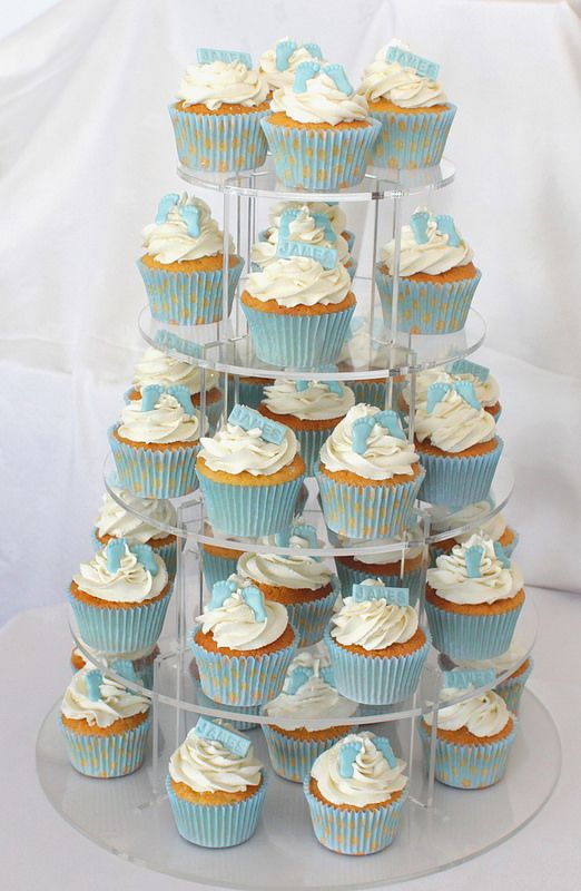 baby feet christening cupcakes | Flickr - Photo Sharing!