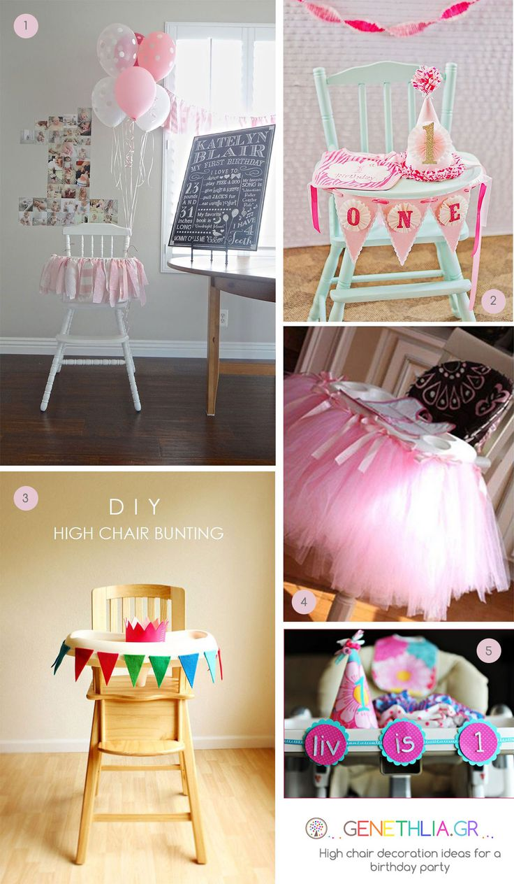 High chair decoration ideas