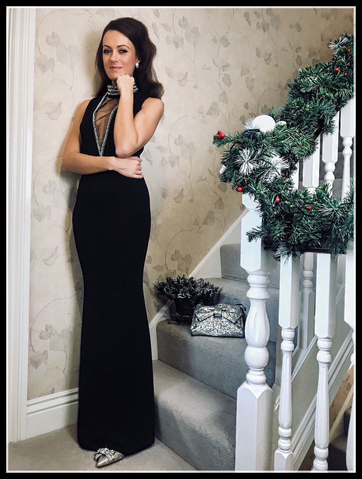 CHRISTMAS GLAMOUR | STEPHANIE PRATT EMBELLISHED MAXI DRESS