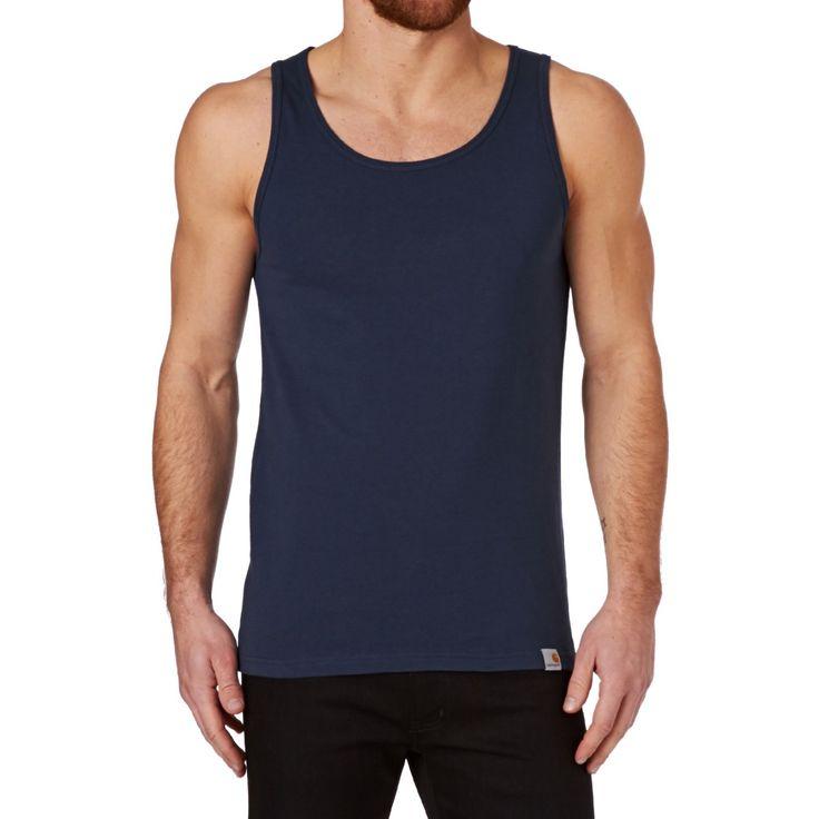 Men's Carhartt Vests - Carhartt Exec A-shirt Vest - Blue