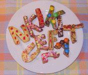 Buchstaben-Kekse zum Schulanfang backen