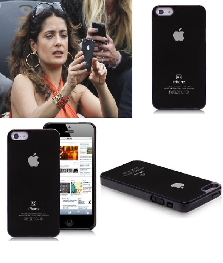Salma Hayek iPhone 5 Black Metal Case #Salma #hayek #iphone5 #black #metal #case $5.14
