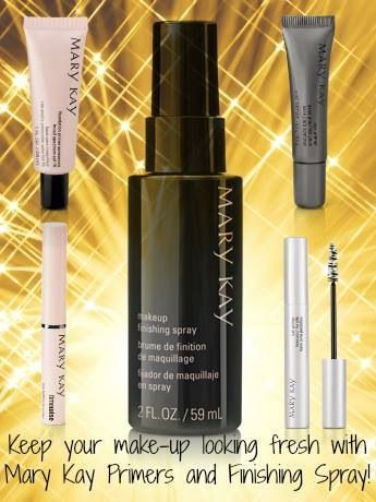 Keep your makeup on through whatever comes your way!  Mary Kay foundation primer, lash primer, lip primer, eye primer and Finishing Spray.   SHOP:  www.marykay.com/vcarretta