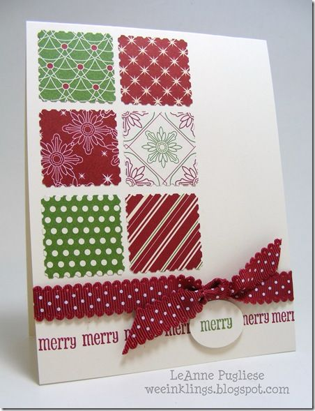 Uses the new Stampin' Up Christmas DSP