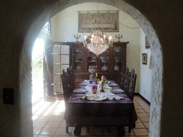 Spanish Colonial Home With Omega Cabinetry   Traditional   Dining Room .