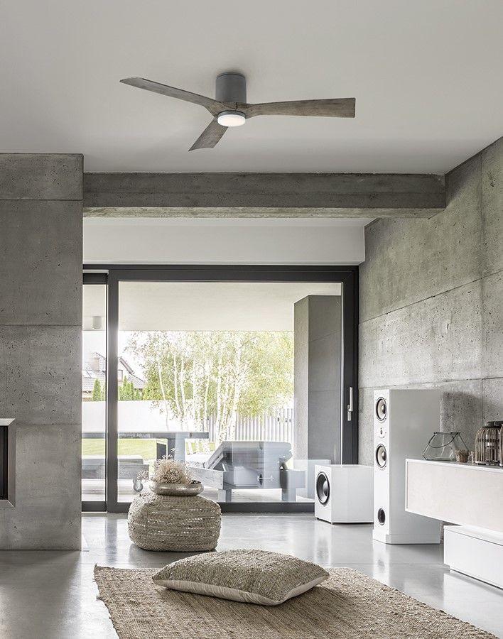 Aviator Flush Mount Ceiling Fan By Modern Forms Fh W1811 54 Gh Wg In 2020 Flush Mount Ceiling Fan Modern Forms Ceiling Fan