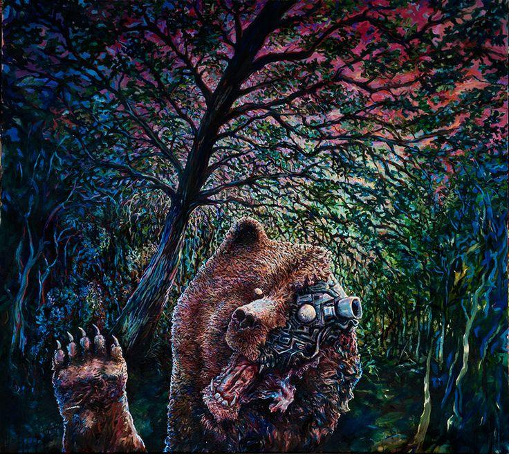Karhu Artist: Ilkka Luttinen, 2012. Painting, oil on canvas, 161 x 140 cm.