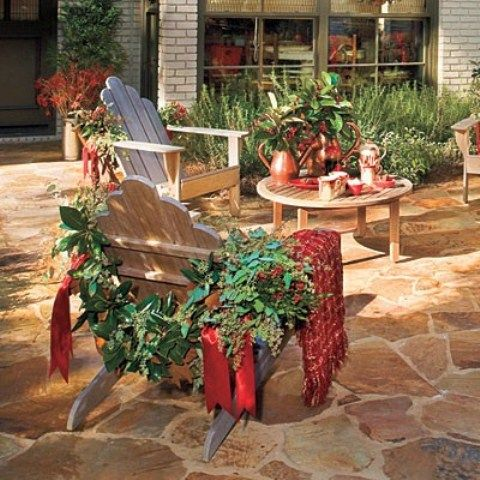 10 most inspiring outdoor decoration ideas - Decorating Adirondack Chairs For Christmas