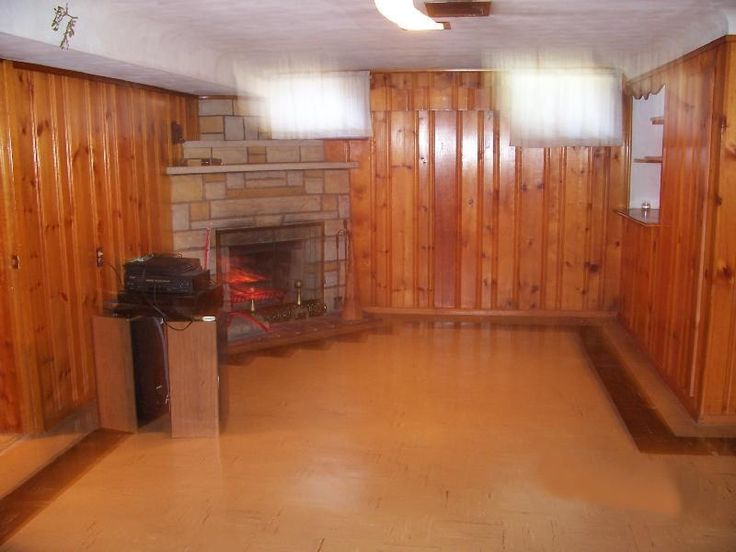 Pine wood walls finishing a basement with paneling Painting paneling in basement