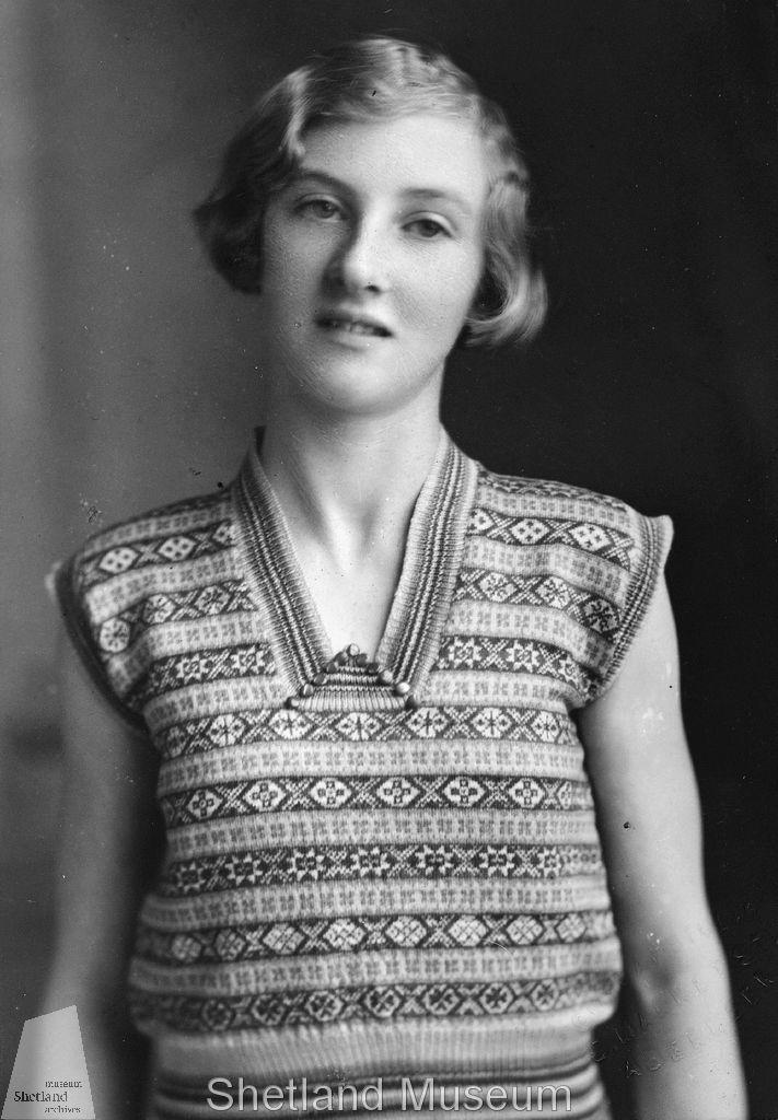 A beautiful sleeveless fair isle pullover, 1930's