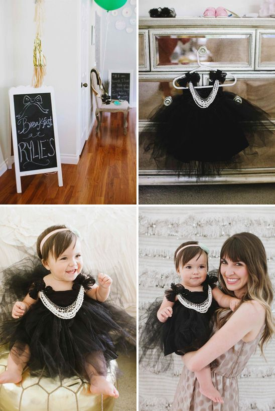 Is it possible to be jealous of a baby's outfit? | Breakfast at Tiffany's themed birthday party