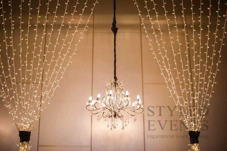 Fairy Light Backdrop By Styled Events Cascading Lights