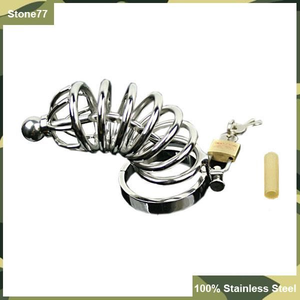 2016 Brand New Large Size Male Food Grade Stainless Steel Chastity Cock Cage Metal Catheter Urethral Sound Plug Adult Toy Man BDSM Toys Online with $24.18/Piece on Stone77's Store | DHgate.com