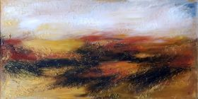 EARTHLY RICHES - LARGE ABSTRACT LANDSCAPE by VANADA