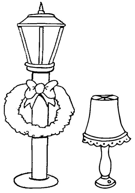 Street Lamp And Bedroom Lamp Coloring Page Bedroom Lamps Street Lamp Coloring Pages