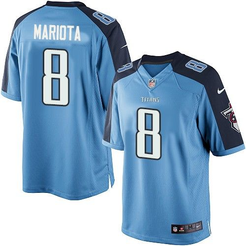 marcus mariota mens limited light blue jersey nike nfl tennessee titans home 8