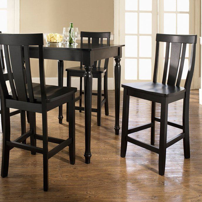 crosley 5piece pub dining set with turned leg and