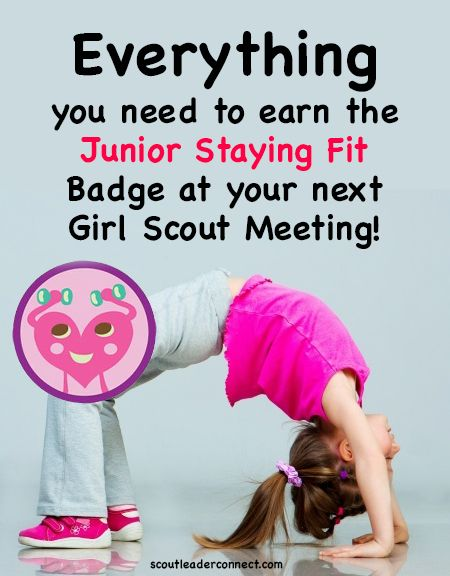 Earn the Junior Staying Fit Badge with your girls using these great ideas and games,