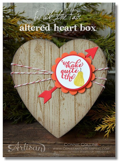 We love this heart box.Backgrounds Stamps, Stamps Sets, 2014 Ideas, Valentine Ideas, Paper Crafts, Bakers Twine, Heart Boxes, Heart Cards, Altered Heart