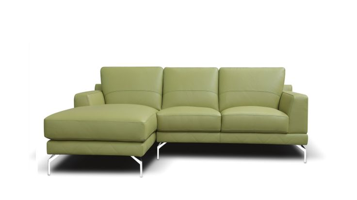 Youma Leather Sofa with Chaise from Domayne Online